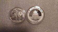 2010 Monedas Panda Chino Plata 1 OZ (approx. 28.35 g) (en cápsula)