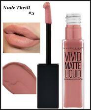 LOT 2  Maybelline Color Sensational Vivid Matte Liquid Lipstick Nude Thrill #5