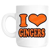 I Love Gingers Funny Office Novelty Gift Mug shan771