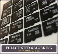 20 X 4gb Tarjetas de Memoria MicroSD/