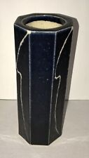 Octagon Studio Art Pottery Cobalt Glaze Vase