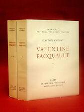VALENTINE PACQUAULT - CHÉRAU [Gaston] André BILLY - JACQUEMEIN -1958 - 2 volumes