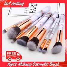 10pcs Makeup Cosmetic Blush Brush Eyebrow Foundation Powder Brushes Kit Set usa