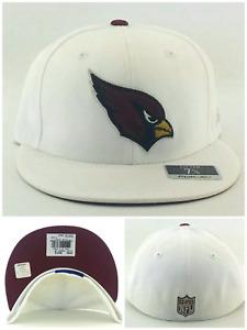 Arizona Cardinals New Reebok Silver Satin Fashion White Red Era Fitted Hat Cap