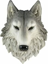More details for wall mounted 16 inch ornament wolf head faux taxidermy 16