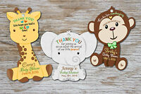 Stickers Jungle Lion crown Safari Baby Shower boy Thank you round Favor Tags