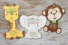 Safari Jungle Baby Shower or Birthday Favor Tags Thank You Tag Favors Decoration