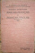 Nouveau dictionnaire anglais français Clifton et Laughin Edition 1930