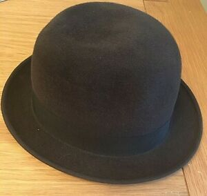 Mens Vintage Felt Trilby Fedora Hat Summer - Brown size 7 dh