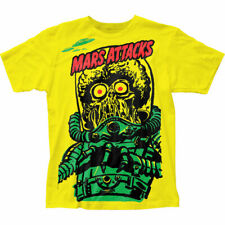 New Mars Attacks Yellow Martian Big Print Subway Shirt (Sml-2Xl) badhabitmerch