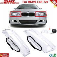 Für BMW E46 3er Facelift Limousine Touring Scheinwerferglas Streuscheibe DHL DE
