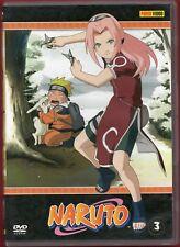 1 DVD PANINI VIDEO ANIME/MANGA NINJA-NARUTO 3 sakura,sasuke,konoha,zabusa,haku,x