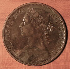 Great Britain 1876 H One Penny - Bronze (9.2 gr, 31 mm) KM#755.