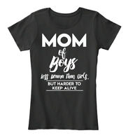 Mom Of Boy Leff Drama Than Girlf Women's Premium Tee T-Shirt
