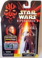 1998 Star Wars Episode 1 Queen Amidala Naboo w/Blaster Pistols Action Figure NIP
