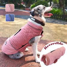Small Dog Coat for Winter Waterproof Pet Clothes Medium Reflective Jacket Pink