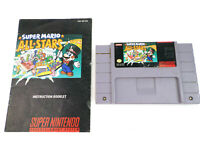 SNES Super Mario All-Stars w/ Manual AUTHENTIC Nintendo Clean Contacts Genuine