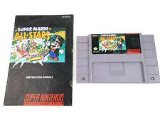 SNES Super Mario All-Stars w/ Manual AUTHENTIC Nintendo Clean Contacts Genuine