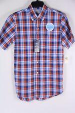 New Izod Plaid Shirt Short Sleeve SS S Small Cool FX Mens