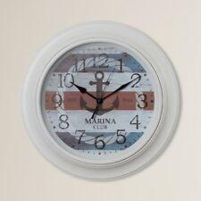 "Beachcrest Large 18"" Nautical Anchor Wall Clock Round Wall Clock, Modern - New"