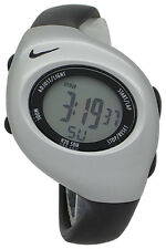 New Nike Kids Triax Junior WR0017 Black and Silver Digital Sports Watch