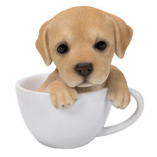 TEACUP PUPS Figurine Statue YELLOW LAB DOG PUPPY in Cup Mug LABRADOR RETRIEVER