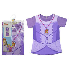 NEW Official Disney Junior Sofia the first dress design print t-shirt 2-3yrs