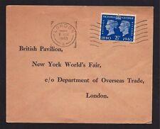 Gr Brit Stamp #256 Fdc Centenary Ny Worlss Fair 1940