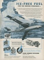 1953 Lear Fuel Pump Ad with Boeing B-47 Stratojet Bomber USAF Air Force