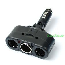 3 Way Car Cigarette Lighter Socket Splitter Charger Power Adapter DC 12V/24V