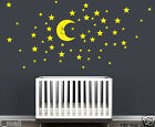 Moon & Stars Removable Wall Stickers for kids room or nursery