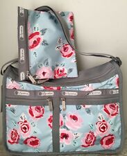 NWT LeSportsac Deluxe Everyday Bag With Pouch $82 Garden Sky Rose