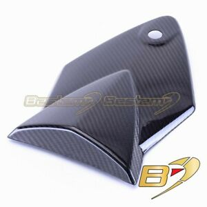 CARBON VINYL WHITE DS ST CUSTOM FITS BMW S 1000 R 14-16 NAKED FRONT SEAT COVER