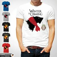 WINTER IS COMING FUNNY GAME OF THRONES CHRISTMAS T-SHIRT GIFT XMAS White