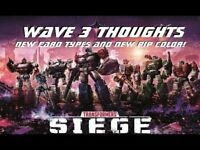 Transformers TCG - Wave 3 Character Card War For Cybertron Siege Single cards