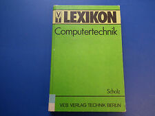 DDR Fachbuch-Lehrbuch Lexikon Computertechnik DDR 1988 hier Ersatuaflage