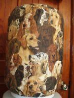 DOG FACES BLACK K-9 LAB 5 GALLON WATER COOLER BOTTLE COVER KITCHEN DECORATION