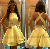 New Beaded Short Graduation Dress Prom Party Cocktail Bridesmaid Homecoming Gown