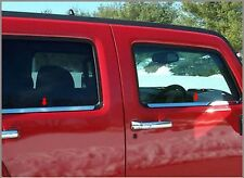 2005-2016 Hummer H3 4Pc Chrome Window Sill Trim Overlay Stainless Steel