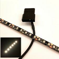 WHITE LED PC CASE LIGHT(SINGLE 30CM BRIGHTER STRIP) MOLEX 60CM SHEATHED TAIL