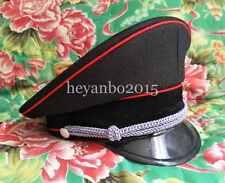 WWII Ww2 German Military Elite Officer Visor Cap Hat Red Pipe 57 58 59 60 cm