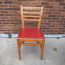 Vintage  Buckstaff wood ladder back chair Padded