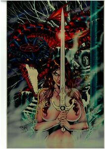 Tarot Witch of the Black Rose 5 REISSUED GOLD METAL Jim Balent NM 4/10 COA