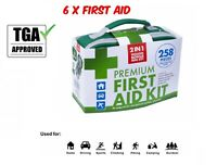 6x258pcs First Aid Kit Family Supplies Medical Workplace Home Hiking Travel TGA