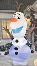 RARE NEW 9.5 FT TALL CHRISTMAS DISNEY FROZEN OLAF SWIRLING LED INFLATABLE GEMMY