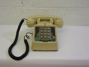 Vintage Western Electric Single Line Phone Model 2500 Beige (Clear Face-plate)