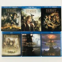 Blu-ray Lot of 6 - Hobbit Trilogy and Lord of the Rings Trilogy - All 6 Movies