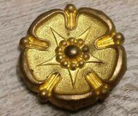 Rosace bronze doré / ameublement ancien , embrasse/déco meuble.