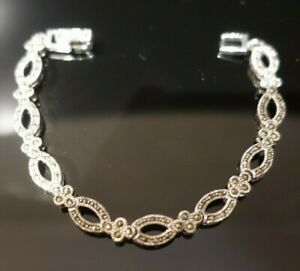 Victorian Style Marcasite Bracelet - Sterling Silver 925 - £85 - Brand New