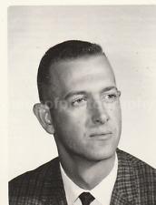 1950's 1960's GUY Found Photograph bw FREE SHIPPING Original Portrait MAN 7711